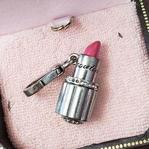 Silver Lipstick Juicy Couture Charm